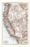 Vereinigte Staaten Landkarte ca. 1881 Original der Zeit