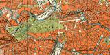 Berlin Umgebung historische Landkkarte Lithographie ca. 1902