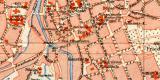 Chemnitz historischer Stadtplan Karte Lithographie ca. 1903