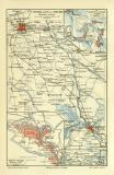 Tianjin historischer Stadtplan Karte Lithographie ca. 1903