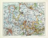 Hannover historische Landkarte Lithographie ca. 1904