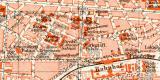 Karlsruhe historischer Stadtplan Karte Lithographie ca. 1905