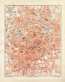 Mailand historischer Stadtplan Karte Lithographie ca. 1906