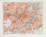 München historischer Stadtplan Karte Lithographie ca. 1906