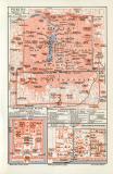 Peking historischer Stadtplan Karte Lithographie ca. 1906