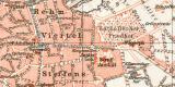 Aachen historischer Stadtplan Karte Lithographie ca. 1902