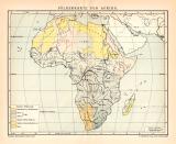 Farbige Lithographie von 1891 zeigt eine Völkerkarte von...