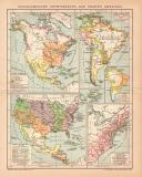 Farbige Lithographie aus 1891 zeigt Karten zur...