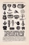 Stich aus 1891 mit 23 Abbildungen altertümlicher...