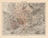 Farbige Lithographie aus dem Jahr 1891 zeigt einen...