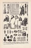 Babylonisch Assyrische Kunst Holzstich 1891 Original der Zeit