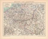Farbige Lithographie aus dem Jahr 1891 zeigt eine...