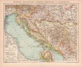 Bosnien Dalmatien Istrien Kroatien Slawonien Karte...