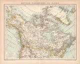 Nordamerika Alaska Karte Lithographie 1899 Original der Zeit