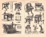 Buchbinderei I. - III.  Holzstich 1891 Original der Zeit