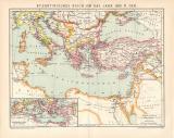 Byzantinisches Reich um 1.000 n Chr. Karte Lithographie...