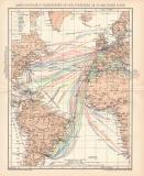 Dampfschifffahrt Weltverkehr Lithographie 1899 Original...