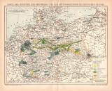 Industrie Deutsches Reich Karte Lithographie 1899...