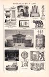 Etruskische Kunst Holzstich 1891 Original der Zeit
