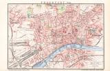 Frankfurt a. M. Stadtplan Lithographie 1899 Original der...