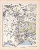 Frankreich Ost Militärkarte Lithographie 1899...