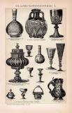 Glaskunstindustrie I. Holzstich 1892 Original der Zeit