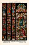 Glasmalerei II. Chromolithographie 1892 Original der Zeit
