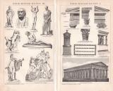 Griechische Kunst I. - III. Holzstich 1892 Original der Zeit