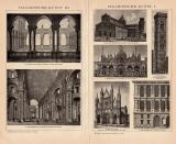 Italienische Kunst I. - III. Holzstich 1891 Original der...