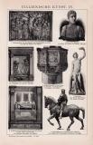 Italienische Kunst IV. - V. Holzstich 1891 Original der Zeit