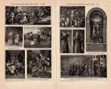 Italienische Kunst VI. - VIII. Holzstich 1891 Original...