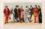 Kostüme III. 16. Jh. Chromolithographie 1891...