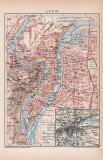 Lyon Lithographie 1899 Original der Zeit