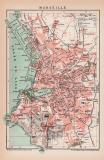 Marseille Lithographie 1899 Original der Zeit