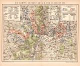 Kämpfe um Metz 1870 Lithographie 1899 Original der Zeit