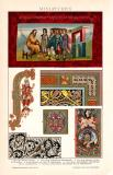 Miniaturen Chromolithographie 1891 Original der Zeit