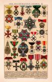Die wichtigsten Orden II. Chromolithographie 1891...