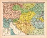 Österreich-Ungarn ethnographische Lithographie 1899...