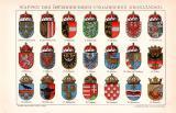 Wappen Österreich-Ungarn Chromolithographie 1891...