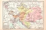 Österreich-Ungarn historische Karte Lithographie...