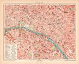 Paris Lithographie 1899 Original der Zeit