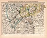 Rheinprovinz Westfalen Hessen II.  Karte Lithographie...