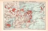 Rio de Janeiro Stadtplan Lithographie 1899 Original der Zeit