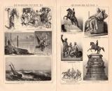 Russische Kunst I. - III. Holzstich 1891 Original der Zeit