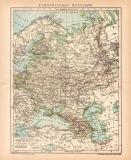 Europäisches Russland Karte Lithographie 1900...