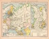 Russland Historische Karte Lithographie 1900 Original der...