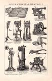 Schuhwarenfabrikation I. Holzstich 1891 Original der Zeit