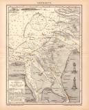Seekarte Lithographie 1900 Original der Zeit