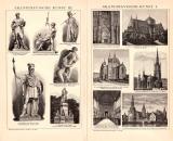 Skandinavische Kunst I. - III. Holzstich 1891 Original...
