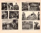 Spanische Kunst I. - III. Holzstich 1891 Original der Zeit